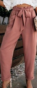 NWT Deep Mauve Pocketed Bag Pants